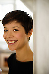 Portrait de Claire Tran pour son book de comedienne. Paris, 3 decembre 2009. Photo : Antoine Doyen