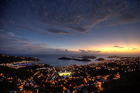Sunset over Charlotte Amalie<br />