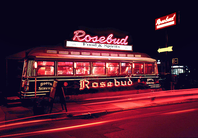 Rosebud Diner dates from 1941 and serves breakfast, lunch and diner.