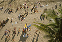 People on beach; Waikiki, Oahu, Hawaii. .