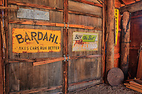 Barn Interior - Texaco And Bardahl Signs - Eldorado Canyon - Nelson NV