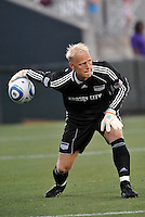 Jimmy Nielsen...Kansas City Wizards were defeated 3-0 by New York Red Bulls at Community America Ballpark, Kansas City, Kansas.
