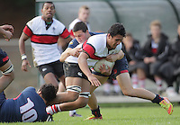 Action from the Hurricanes 1st XV Secondary Schools rugby match between Scots College and Hastings Boys' High School at Porirua Park, Porirua, Wellington, New Zealand on Friday, 17 May 2013. Photo: Dave Lintott / lintottphoto.co.nz