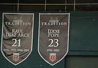 Plaque honoring Eddie Pope formerly of D.C. United during an MLS match against the Los Angeles Galaxy at RFK Stadium on July 18 2010, in Washington D.C. Galaxy won 2-1.
