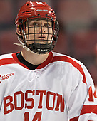 Bobo Carpenter (BU - 14) - The Boston University Terriers defeated the University of Massachusetts Minutemen 3-1 on Friday, February 3, 2017, at Agganis Arena in Boston, Massachusetts.The Boston University Terriers defeated the visiting University of Massachusetts Amherst Minutemen 3-1 on Friday, February 3, 2017, at Agganis Arena in Boston, MA.