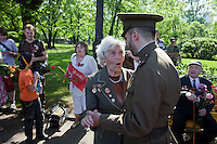 Moscow, Russia, 09/05/2010..Veterans and well-wishers dance in Gorky Park to celebrate Victory Day.
