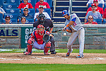 26 July 2013: New York Mets outfielder Juan Lagares in action against the Washington Nationals at Nationals Park in Washington, DC. The Mets shut out the Nationals 11-0 in the first game of their day/night doubleheader. Mandatory Credit: Ed Wolfstein Photo *** RAW (NEF) Image File Available ***