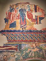 Twelfth Century Romanesque fresco from the church of Santa Maria de Taull, La Vall de Boi, Alta Ribagorca, Spain. National Art Museum of Catalonia, Barcelona. MNAC 3915