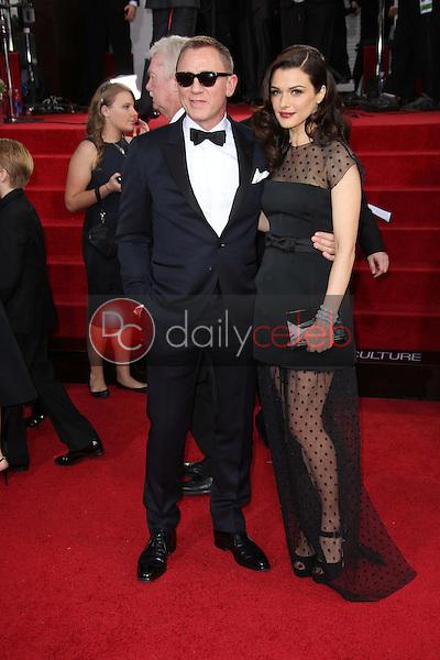 Daniel Craig, Rachel Weisz<br /> at the 70th Annual Golden Globe Awards Arrivals, Beverly Hilton Hotel, Beverly Hills, CA 01-13-13<br /> David Edwards/DailyCeleb.com 818-249-4998