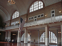 Ellis Island main hall.