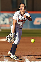 SAN ANTONIO, TX - FEBRUARY 15, 2014: The Oklahoma State University Cowgirls versus the University of Texas at San Antonio Roadrunners Softball at Roadrunner Field. (Photo by Jeff Huehn)