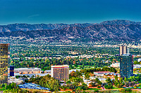 Sheraton Hotel, Universal City; CA; overlook; San Fernando Valley; Verdugo Hills, Beautiful Sunset, Dusk, San Gabriel mountains; Burbank; CA;