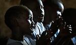 Girl students at the John Paul II School in Wau, South Sudan.