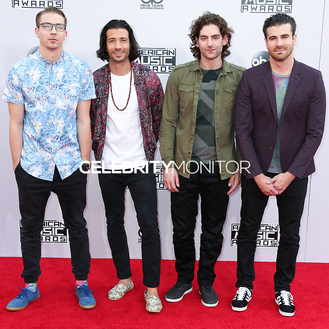 LOS ANGELES, CA, USA - NOVEMBER 23: Alex Tanas, Nasri, Ben Spivak, Mark Pellizzer, Magic! arrive at the 2014 American Music Awards held at Nokia Theatre L.A. Live on November 23, 2014 in Los Angeles, California, United States. (Photo by Xavier Collin/Celebrity Monitor)