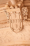Detail of a seal above a door at the Bussaco Palace Hotel in Portugal.
