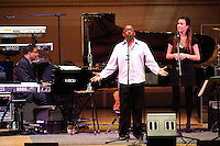 "Herbie Hancock, Greg Phillinganes and Kritina Train at Herbie Hancock's ""Seven Decades: The Birthday Celebration"" at Carnegie Hall. June 24, 2010"