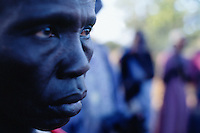 Sudan. South Sudan. Bahr El Ghazal. Mayen Abun. Dinka slave woman bought back by Christian Solidarity International (CSI) from muslim arab traders. © 1999 Didier Ruef