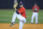 Ole Miss' Mike Mayers (28) pitches at Oxford-University Stadium in Oxford, Miss. on Wednesday, March 2, 2010.