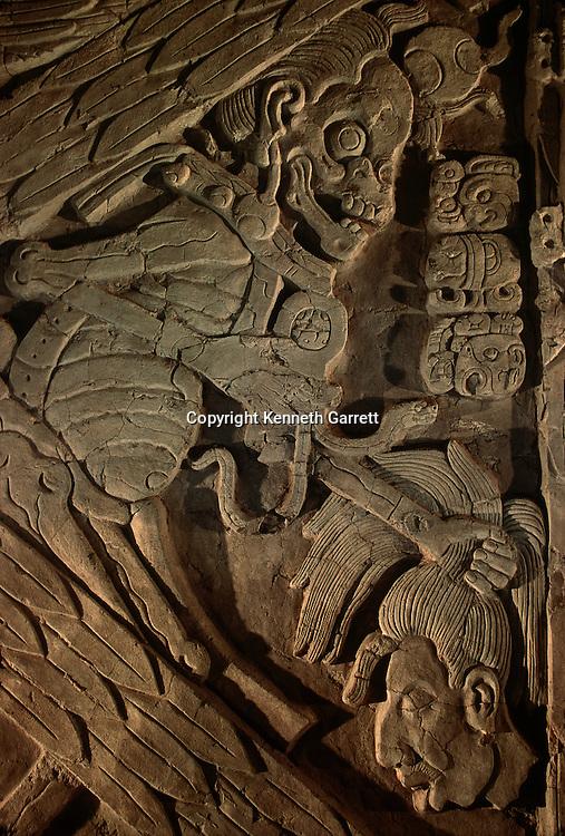 Maya, Turtle God of Death, Tonina, Chiapas, Mexico