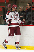 Marshall Everson (Harvard - 21) - The Harvard University Crimson defeated the Colgate University Raiders 4-1 (EN) on Friday, February 15, 2013, at the Bright Hockey Center in Cambridge, Massachusetts.