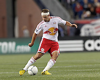 New York Red Bulls midfielder Teemu Tainio (6) passes the ball. Despite a red-card man advantage, in a Major League Soccer (MLS) match, the New England Revolution tied New York Red Bulls, 1-1, at Gillette Stadium on September 22, 2012.