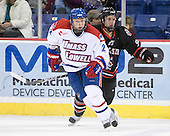 Chris Ickert (Lowell - 2), Robbie Vrolyk (Northeastern - 91) - The visiting Northeastern University Huskies defeated the University of Massachusetts-Lowell River Hawks 3-2 with 14 seconds remaining in overtime on Friday, February 11, 2011, at Tsongas Arena in Lowelll, Massachusetts.