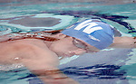 Olympic Gold Medalist Michael Phelps swims at Stanford to compete in Stanford Invitational Grand Prix Meet.  Swimming with his Club Wolverine teammate at the Avery Aquatics Center, Stanford campus.  ..