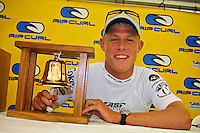 Mick Fanning (AUS) won the 2001 Rip Curl Pro at Bells Beach, Victoria, Australia. Fanning was a sponsors wildcard and stormed the field, defeating Danny Wills (AUS) in the finals. Photo: joliphotos.com