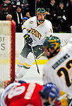 20 February 2009: University of Vermont Catamount defenseman Kyle Medvec, a Sophomore from Burnsville, MN, in action against the University of Massachusetts River Hawks during the first game of a weekend series at Gutterson Fieldhouse in Burlington, Vermont. The teams battled to a 3-3 tie. Mandatory Photo Credit: Ed Wolfstein Photo