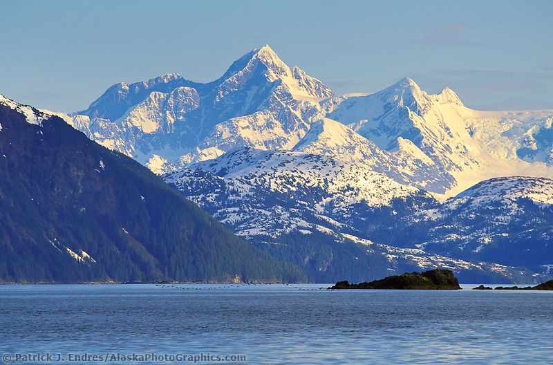 Prince william sound mt gilbert of the chugach mountains alaska