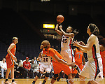 "Ole Miss' Bianca Thomas (45) vs. Auburn in women's college basketball at the C.M. ""Tad"" SMith Coliseum in Oxford, Miss. on Thursday, February 25, 2010."