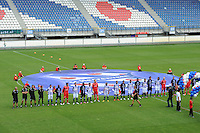 VOETBAL: HEERENVEEN: Abe Lenstra Stadion, 07-07-2012, Open Dag, Presentatie selectie en technische staf 2012-2013 tijdens de Open Dag van SC Heerenveen, ©foto Martin de Jong