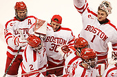 Nikolas Olsson (BU - 13), Shane Switzer (BU - 2), Connor Lacouvee (BU - 30), Max Prawdzik (BU - 1) The Boston University Terriers defeated the visiting Yale University Bulldogs 5-2 on Tuesday, December 13, 2016, at the Agganis Arena in Boston, Massachusetts.
