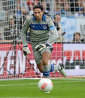 FUSSBALL  1. BUNDESLIGA  SAISON 2012/2013  2. SPIELTAG    01.09.2012 TSG 1899 Hoffenheim  - Eintracht Frankfurt Torwart Tim Wiese (TSG 1899 Hoffenheim)mit Ball