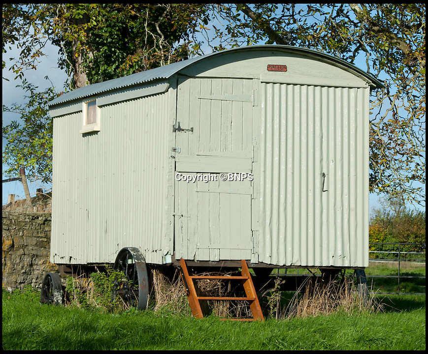 BNPS.co.uk (01202 558833)<br /> Pic: LauraJones/BNPS<br /> <br /> The shepherd's hut.<br /> <br /> The shepherd's hut used by the real-life Gabriel Oak, the main love interest in the new movie Far From the Madding Crowd, has been saved from ruin after being found abandoned in a hedgerow.<br /> <br /> The cabin on wheels belonged to Waterston Manor, the inspiration for fictional Weatherbury Farm which Carey Mulligan's character Bathsheba Everdene owns in the film adaptation of the Thomas Hardy classic novel.<br /> <br /> It has been returned to its former glory by historian David Morris.