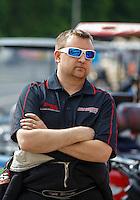May 15, 2016; Commerce, GA, USA; NHRA top fuel driver Kyle Wurtzel during the Southern Nationals at Atlanta Dragway. Mandatory Credit: Mark J. Rebilas-USA TODAY Sports