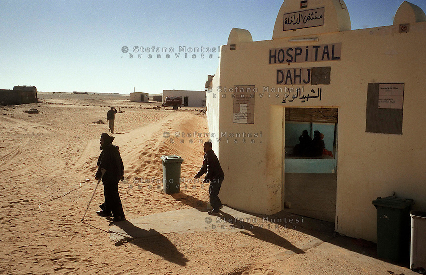 The Saharawi refugee camp  .Entry Hospital for Dakhla .January 2008