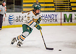 25 November 2016: University of Vermont Catamount Defender Taylor Willard, a Junior from Naperville, IL, in action against the Saint Cloud State Huskies at Gutterson Fieldhouse in Burlington, Vermont. The Lady Cats defeated the Huskies 5-1 to take the first game of the 2016 Windjammer Classic Tournament. Mandatory Credit: Ed Wolfstein Photo *** RAW (NEF) Image File Available ***