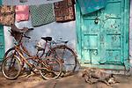 Bikes in Bazaar in Taj Ganj, Agra