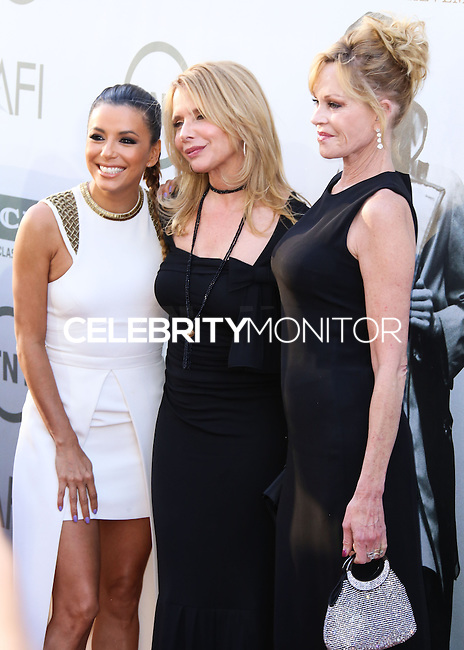 HOLLYWOOD, LOS ANGELES, CA, USA - JUNE 05: Eva Longoria, Rosanna Arquette, Melanie Griffith at the 42nd AFI Life Achievement Award Honoring Jane Fonda held at the Dolby Theatre on June 5, 2014 in Hollywood, Los Angeles, California, United States. (Photo by Xavier Collin/Celebrity Monitor)