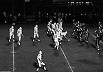 Bethel Park PA:  Offensive play with the Blackhawks lining up for a play against the Wash High Prexies - 1970. Others in the photo; Mike Stewart 11, Clark Miller 30, Chip Huggins 32, John Bender 27, Gary Biro 81, Dennis Franks 66, Joe Barrett 75, Don Troup, 51, Glenn Eisaman 71, Bruce Evanovich 80.  Bethel unvieled their new uniforms against Washington and ended up destroying the Prexies (42-12).  Two touchdowns each by Chip Huggins, Clark Miller and Mike Stewart was the largest offensive output of the season.
