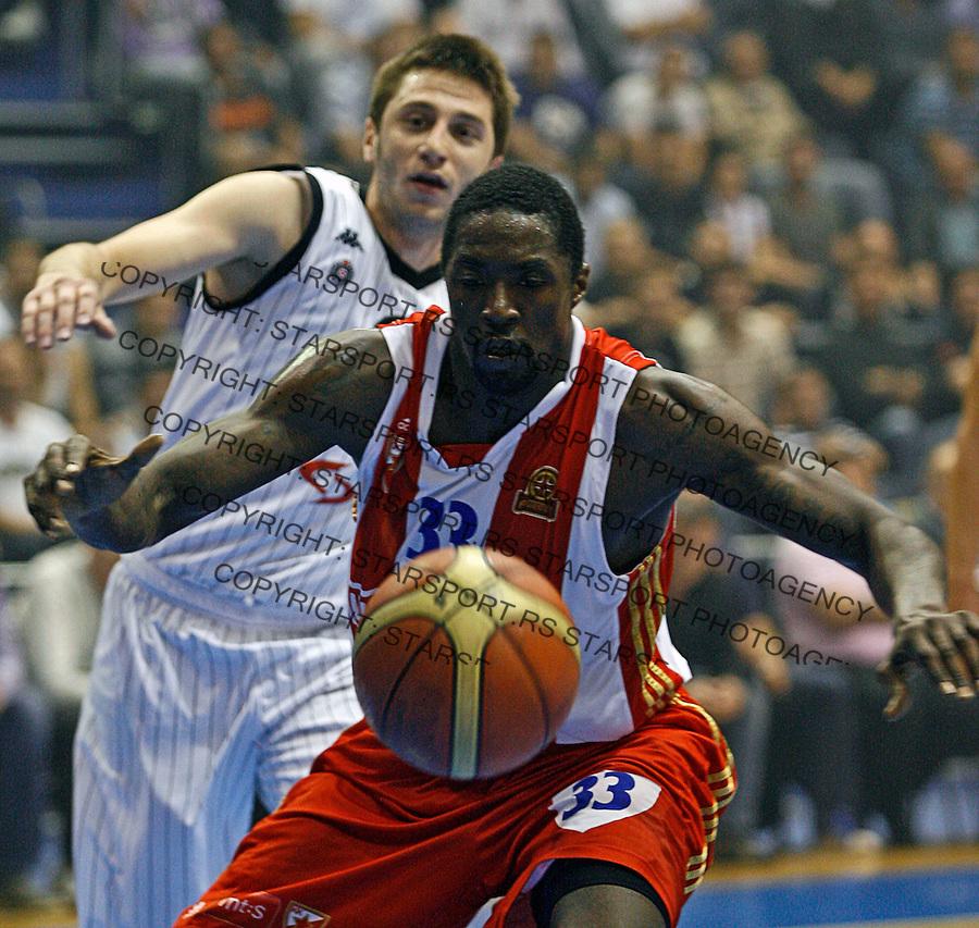 Omar Thomas, Agroziv superliga, Partizan Crvena Zvezda play off 1  kosarka, basketball, Belgrade, Serbia, 05 June 2012. Belgrade, Serbia (credit: Pedja Milosavljevic/thepedja@gmail.com/+381641260959)