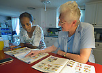 Sister Therese Cunningham teaches English to Azed, an asylum seeker from Eritrea, at the Posada Providencia in San Benito, Texas. Cunningham, originally from Ireland, is a member of the Sisters of the Holy Spirit.<br /> <br /> Sponsored by the Catholic Sisters of Divine Providence, the Posada Providencia provides a safe place for people in crisis from all over the world who are seeking legal refuge in the United States.