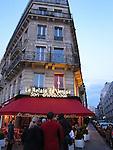 People waiting in line at Le Relais de Venise, a popular restaurant in Paris, France