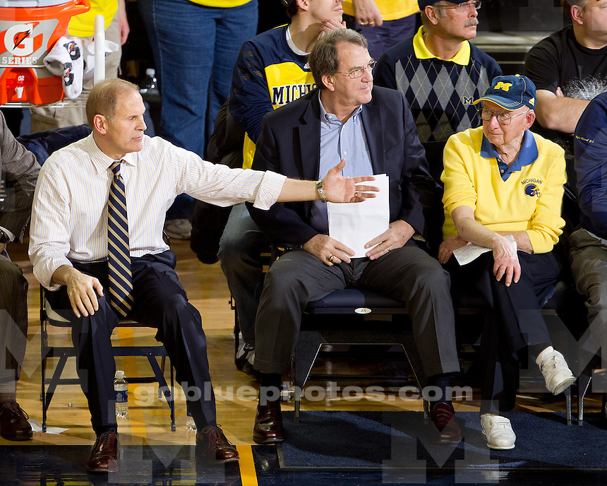 The University of Michigan men's basketball team beat Michigan State 60-59 at Crisler Arena in Ann Arbor, Mich., on January 17, 2012.
