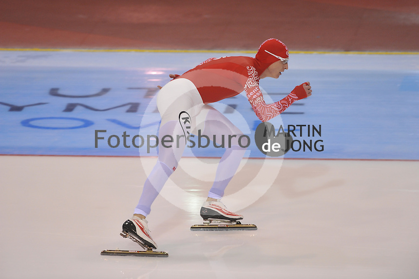 SCHAATSEN: SALT LAKE CITY: Utah Olympic Oval, 17-11-2013, Essent ISU World Cup, 5000m, Ivan Skobrev (RUS), ©foto Martin de Jong