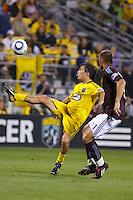 21 AUGUST 2010:  Guillermo Barros Schelotto of the Columbus Crew (7) during MLS soccer game between Colorado Rapids vs Columbus Crew at Crew Stadium in Columbus, Ohio on August 21, 2010.