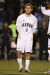 11 December 2009: Akron's Chris Korb. The University of Akron Zips defeated the University of North Carolina Tar Heels 5-4 on penalty kicks after the game ended in a 0-0 overtime tie at WakeMed Soccer Stadium in Cary, North Carolina in an NCAA Division I Men's College Cup Semifinal game.