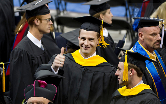 May 19, 2012; Graduate School Commencement Ceremony in the Compton Ice Arena. Photo by Barbara Johnston/University of Notre Dame