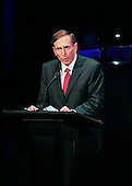 "Director of the Central Intelligence Agency (CIA) General David Petraeus, United States Army (Retired) makes remarks at ""The Washington National Cathedral's A Call to Compassion"" being hosted at the John F. Kennedy Center for the Performing Arts in Washington, D.C. on Friday, September 9, 2011 to commemorate the tenth anniversary of 9/11 .Credit: Ron Sachs / Pool via CNP"